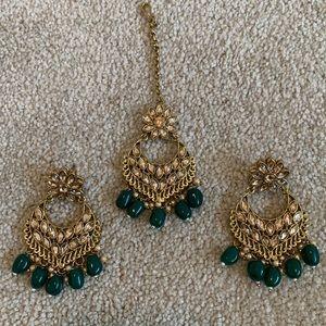 Earrings with head piece set